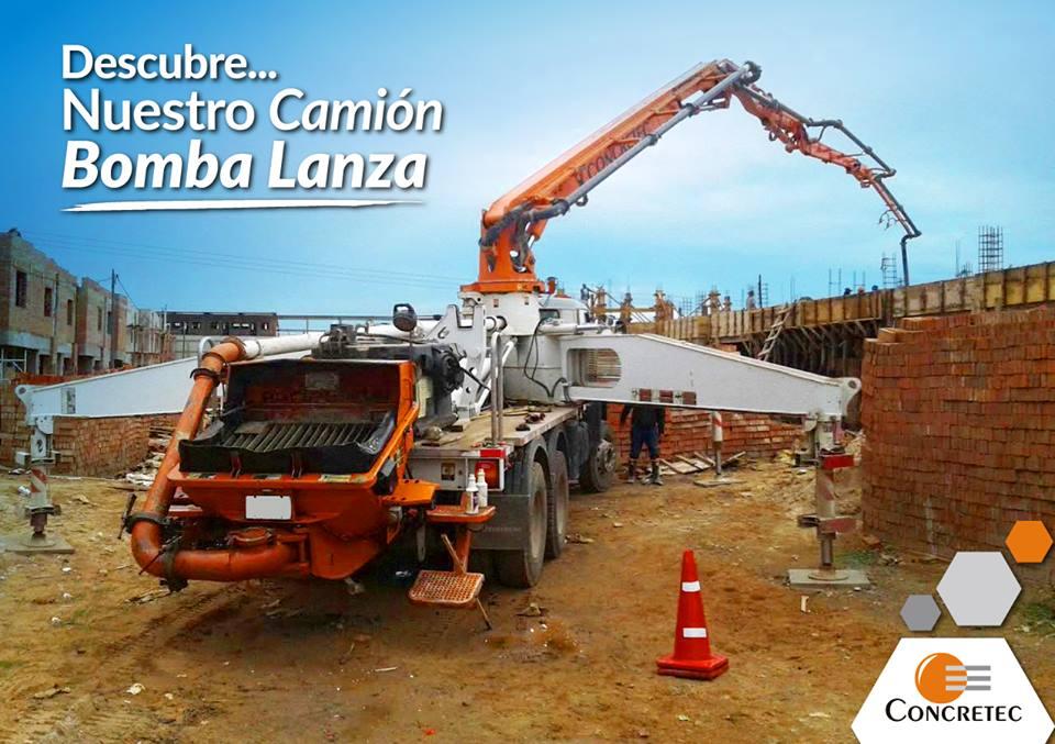 Camión Bomba Lanza, la novedad de Concretec