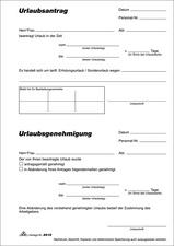 RNK Verlag Vordruck Urlaubsantrag Block DIN A5 2915