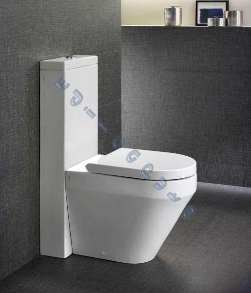 Sanitari bagno vaso bidet cassetta Monolith e sedile filomuro Daytime Evo bianco  eBay
