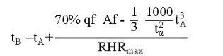 formula rhr 3