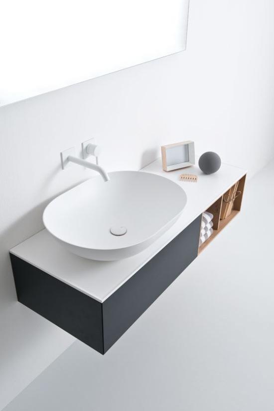 Lavabo per bagno minimal contemporaneo