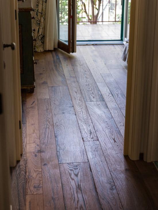 pavimento in legno oliato