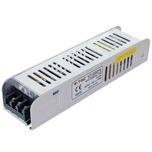 V-TAC ALIMENTATORE TRASFORMATORE STRIP STRISCE LED 75W 12V 6A IP20 CORPO SLIM METAL SKU 3230