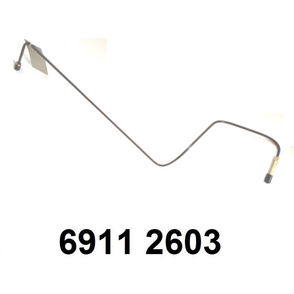 tube de frein droit du répartiteur au récepteur.