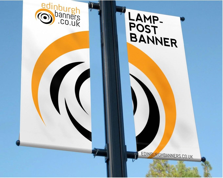 Lamp Post Banners in Edinburgh, UK