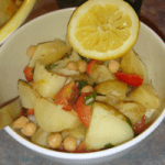 Instant potato salad - tangy and spicy.