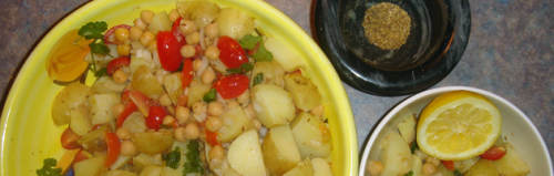 Channa chaat is great with lamb or on its own as a snack.