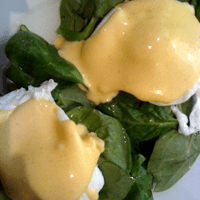 Eggs Florentine at Project Coffee. A little on the vinegary side, but perfectly soft.