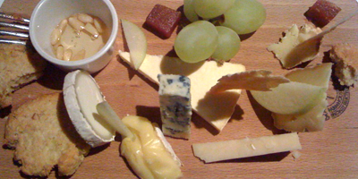 A great British cheese board: the perfect end to a lovely meal