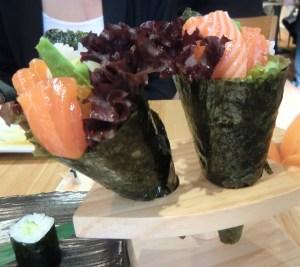 Salmon Sushi at Kanpai