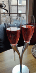 I was tempted to grab the stand, not just my glass. Kir Royal at La P'tite Folie.