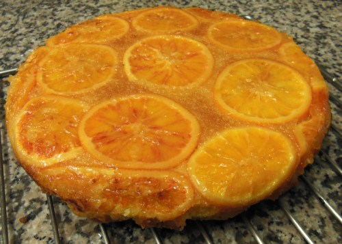 Blood almond orange cake