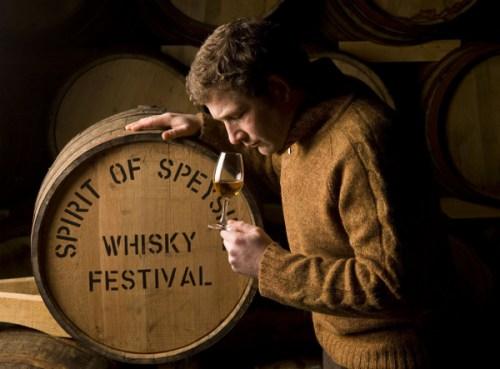 Nosing whisky. Courtesy Speyside Festival