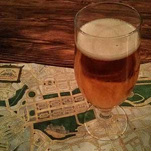 Relaxing with a glass of Smokin' Gunn and a look at the Innis & Gunn beer trail.
