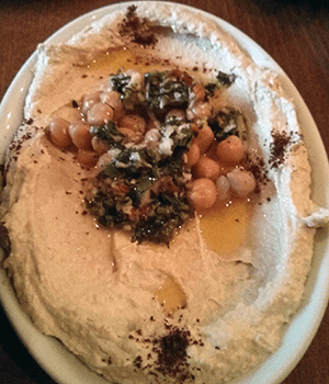 Homous Beiruty adds chickpeas for texture and chili for a bite of refreshing flavour at Fatma, Edinburgh.