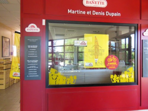 The Shop at Ecole Briare: This is the shop at the school which is set up to train future sales assistants complete with Tour de France branding