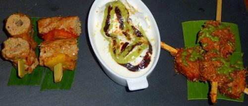 Gullar Seekh kebab; Urid lentil dumplings; Dahl Bhalla; Crispy Golden fried Prawns