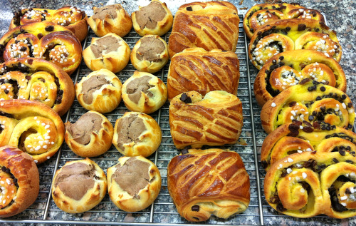 A selection of pastries