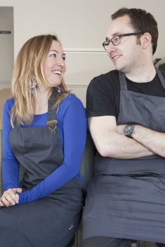 Creative people: Chef Stuart and Mixologist Krystal at Aizle Sally Jubb Photography