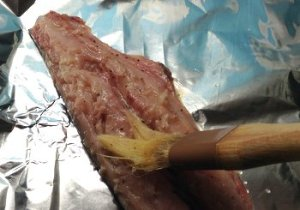 Brush the fillets with the butter juice mixture