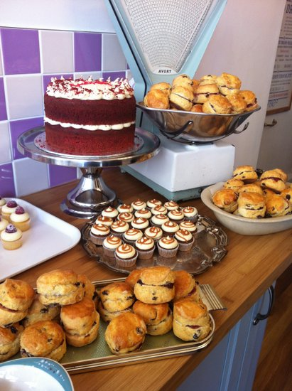 A feast of cake and scones