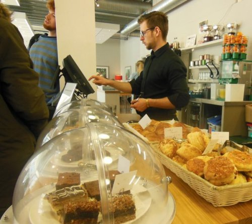 Cakes are now presented in domes on the counter - Loudons