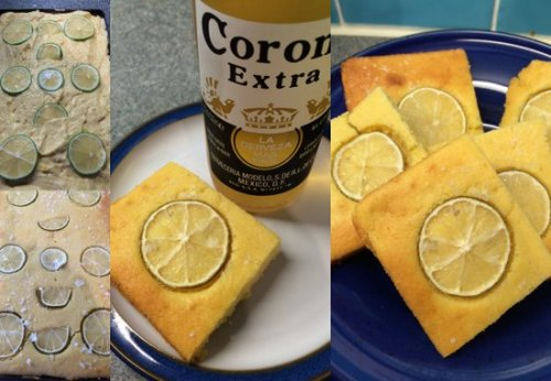 Sea salt and lime encrusted cornbread from start to finish