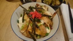 Donburi with seaweed and pickled ginger