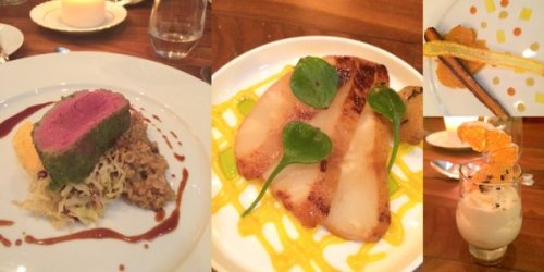 Some of the dishes on our Food Studio Dinner - the middle one is celeriac!