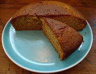 Vegan orange cake has a great crumb. Where's my cup of tea?