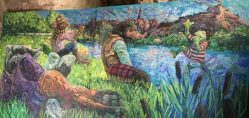 Original Wind in the Willows mural by Chris Rutterford