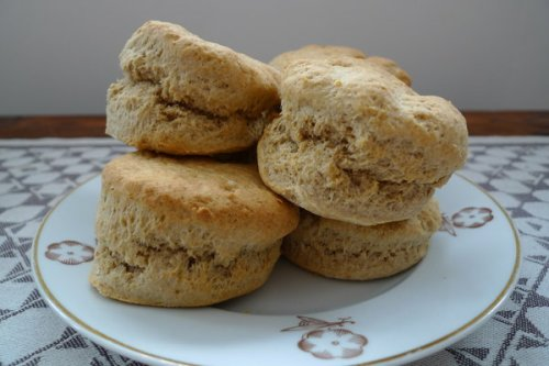 Scones the Nigella way: look at that rise!