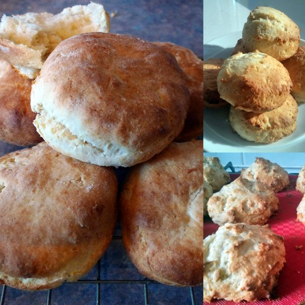 Clockwise from the left: Darina Allen's white soda scones, cream and lemonade scones and Jeff Potter's Tim's scones.