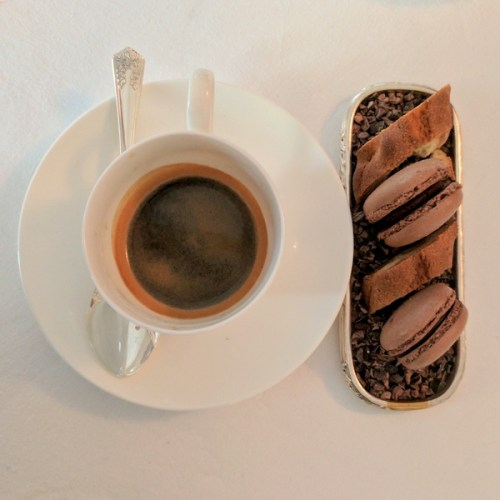 Espresso and petit four at Pompadour by Galvin.