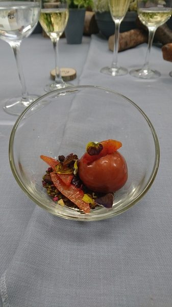 Chocolate orange mousse sphere