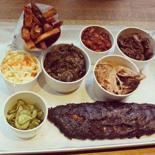 A meatfest - this one with haggis, pork shoulder, ribs and burnt ends.