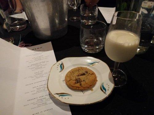 Graham's Dairy organic semi-skimmed milk and Bon Vivant freshly baked cookie