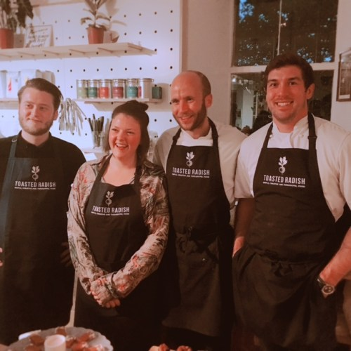 Roly Simpson of the Toasted Radish Supper Club with his team