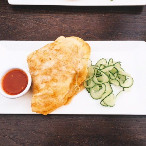 Breakfast with a Thai Twist, the filled roti