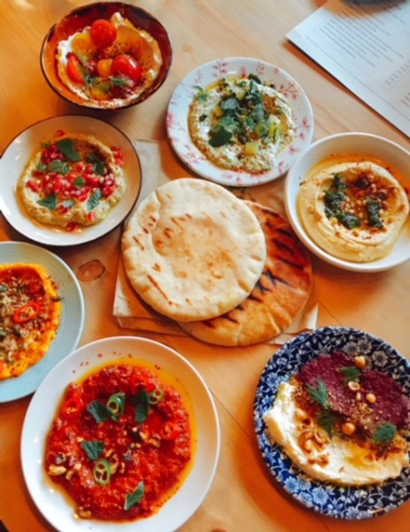 Dips all served with grilled pitta - so many to choose from