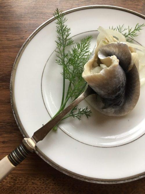 Home-made rollmop herring. Phot by Caroline Rye, the Urban Fishwife.