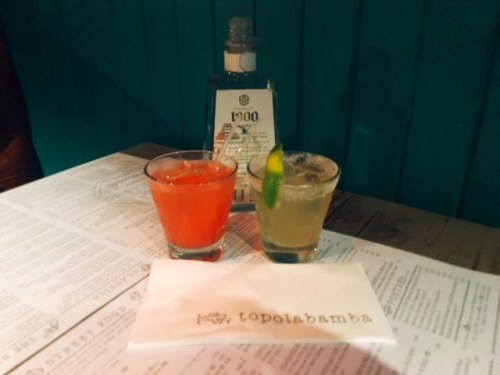 Not a bad way to start a Tuesday evening - some fresh margarita tequilas