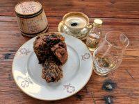 Perfect companions: Dean's Tomatin single shisky cake, Tomatin Legacy and espresso.