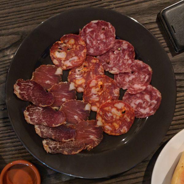 Left to right: lomito, lomo, chorizo and salsichon .