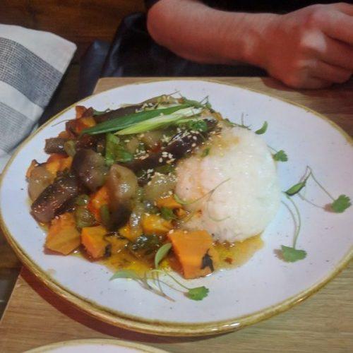 Korean aubergine and sticky rice