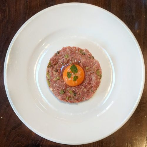 I love steak tartare.