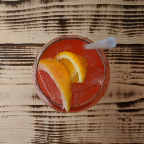 Blood orange and mandarin spritz: as orange as an Aperol spritz but classier.
