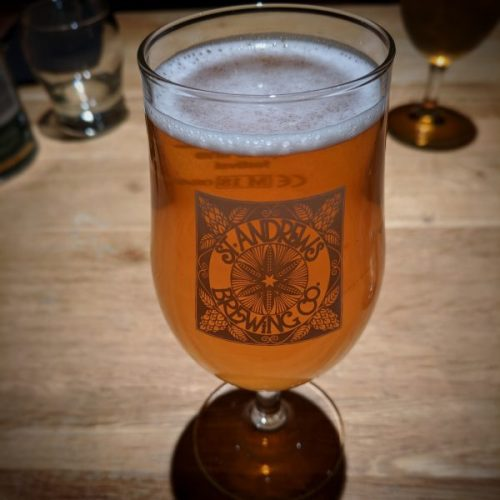 A perfect companion to fish and vegetables: St. Andrews Brewing Company's Fife Blond.
