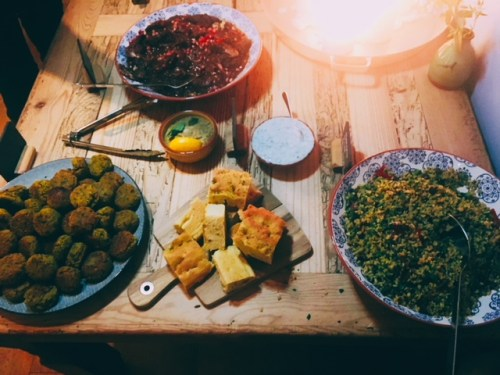 'Feed a cold' - the main of chicken, walnut and pomegranate stew and bean kofte