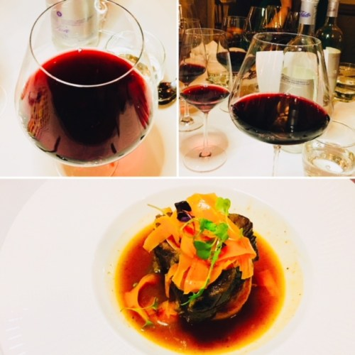 The outstanding dish of the evening, the braised shin of beef, paired with an Amarone which really brought out the chocolate notes in the jus